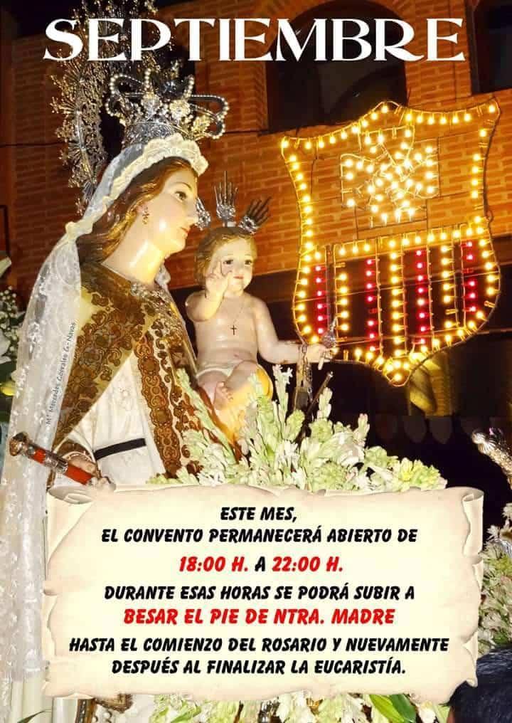 Besapie a la Virgen durante el mes de septeimbre - Besapié a la Virgen de las Mercedes todas las tardes de septiembre
