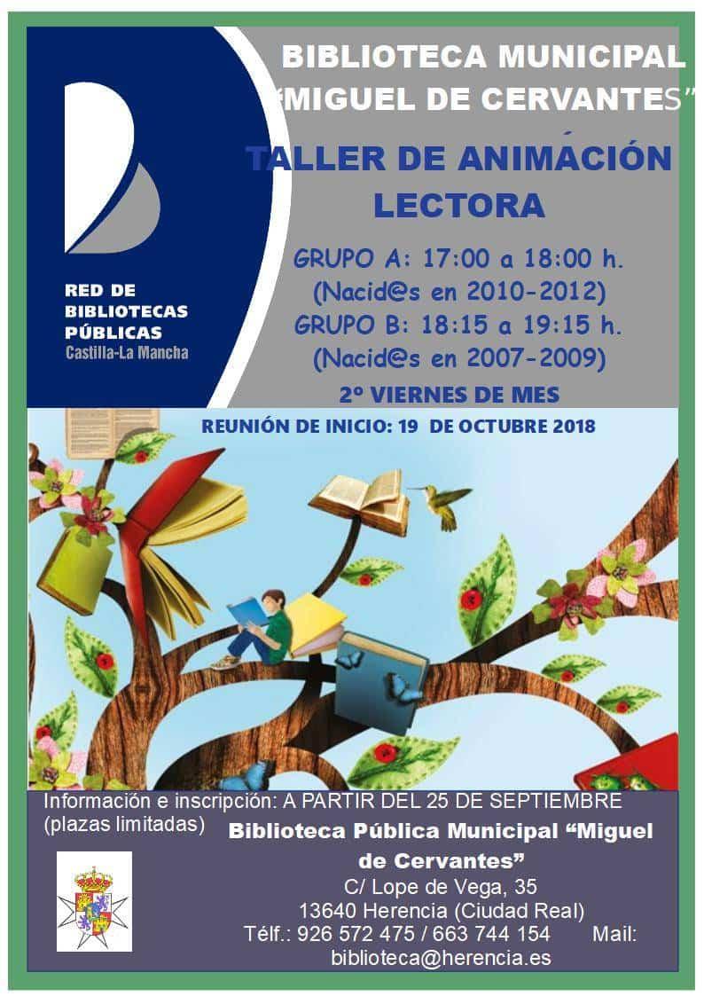 Cartel Taller T.A.L - Talleres de Animación Lectora de la Biblioteca Municipal