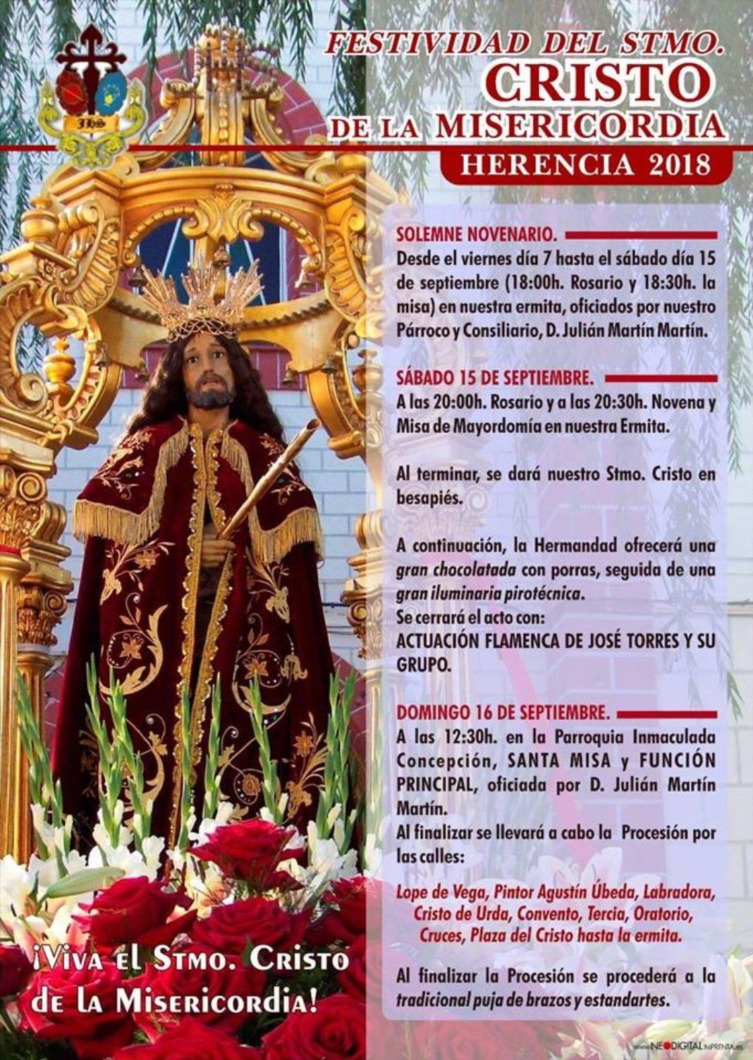 Festividad del Cristo de la Misericordia 1068x1503 - Festividad del Cristo de la Misericordia en Herencia