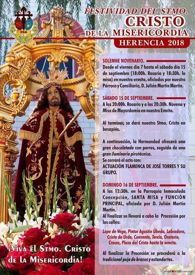 Festividad del Cristo de la Misericordia en Herencia 1