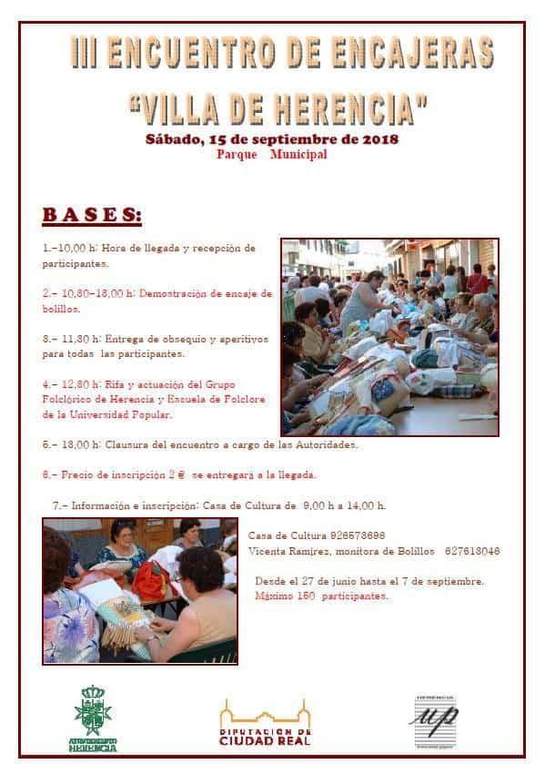 III Encuentro de Encajeras de HErencia - III Encuentro de encajeras de Herencia