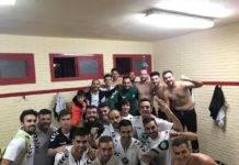 Primer partido de la liga y primera victoria del Herencia C.F.