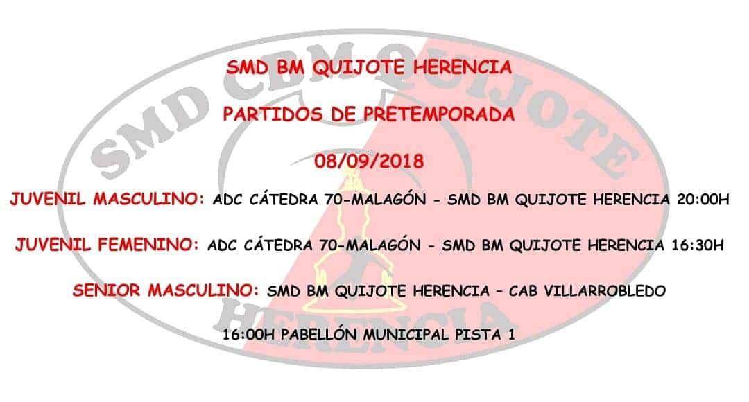 Próximos partidos del SMD BM Quijote Herencia en pretemporada 6