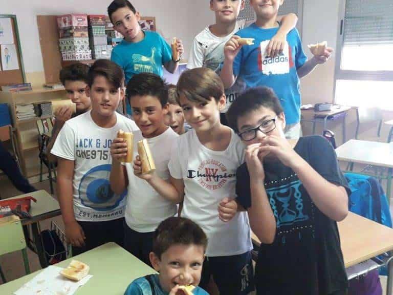 Desayuno saludable en el CEIP Carrasco Alcalde