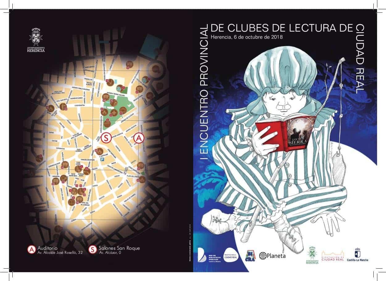 encuentro reginonal clubes lectura herencia diptico portada - I Encuentro Provincial de Clubes de Lectura en Herencia