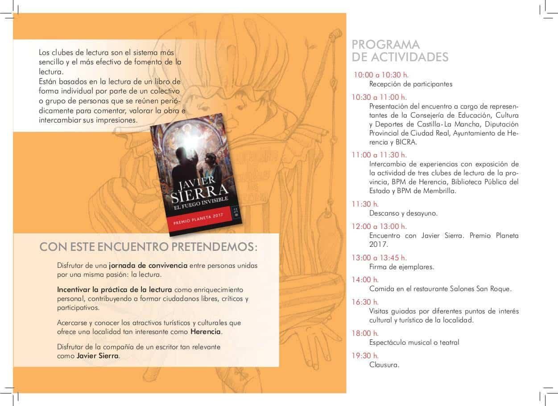 encuentro reginonal clubes lectura herencia programacion - I Encuentro Provincial de Clubes de Lectura en Herencia