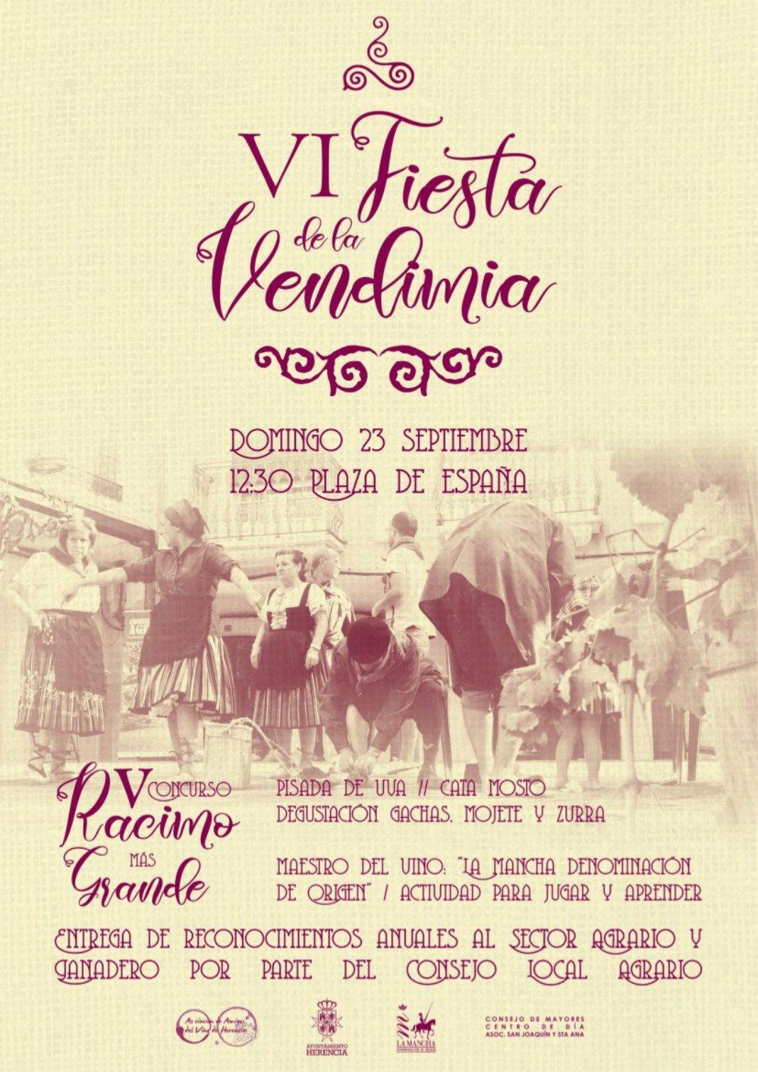 fiesta de la vendimia 2018 herencia 1068x1510 - VI Fiesta de la Vendimia vuelve en la Feria y Fiestas de Herencia
