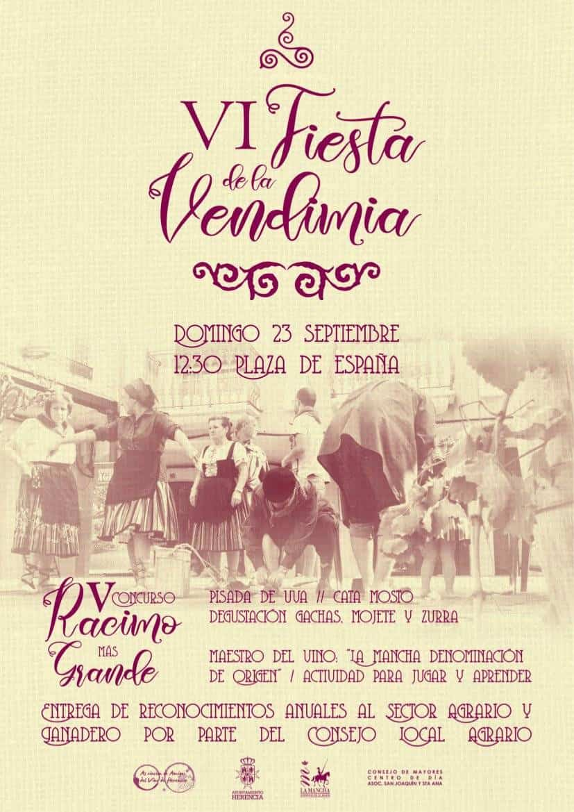 VI Fiesta de la Vendimia vuelve en la Feria y Fiestas de Herencia 3