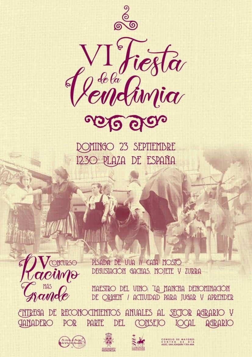 fiesta de la vendimia 2018 herencia - VI Fiesta de la Vendimia vuelve en la Feria y Fiestas de Herencia