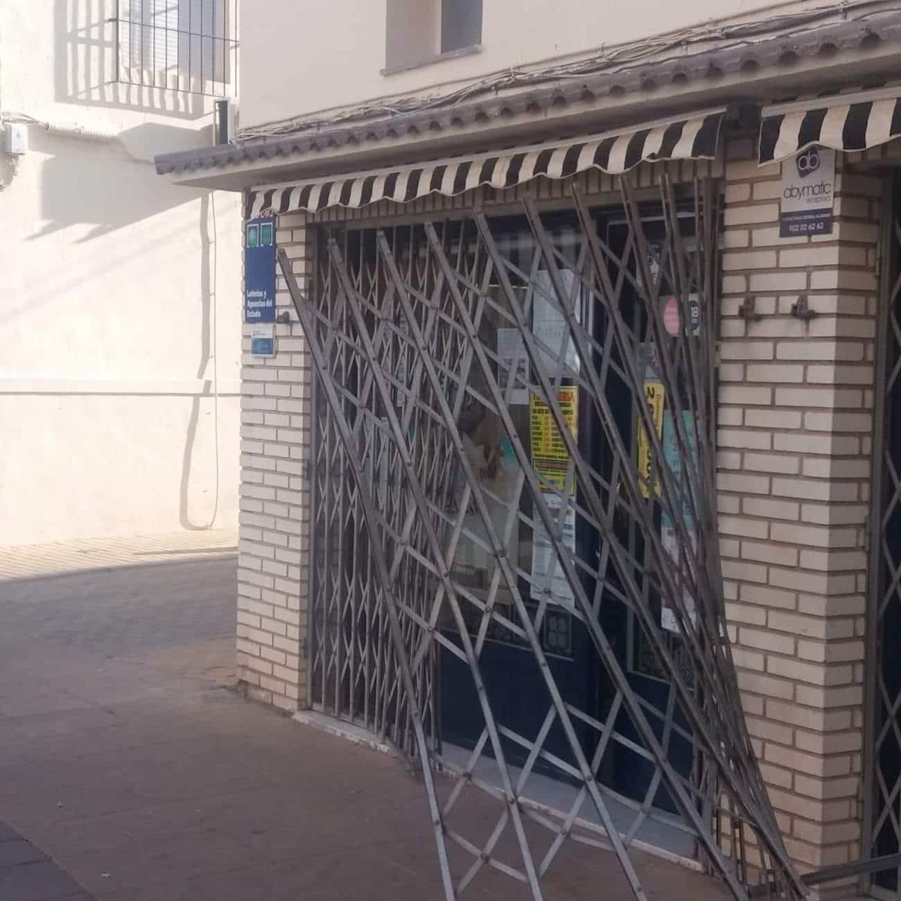 La administración de lotería de Herencia sufre un intento de robo de madrugada