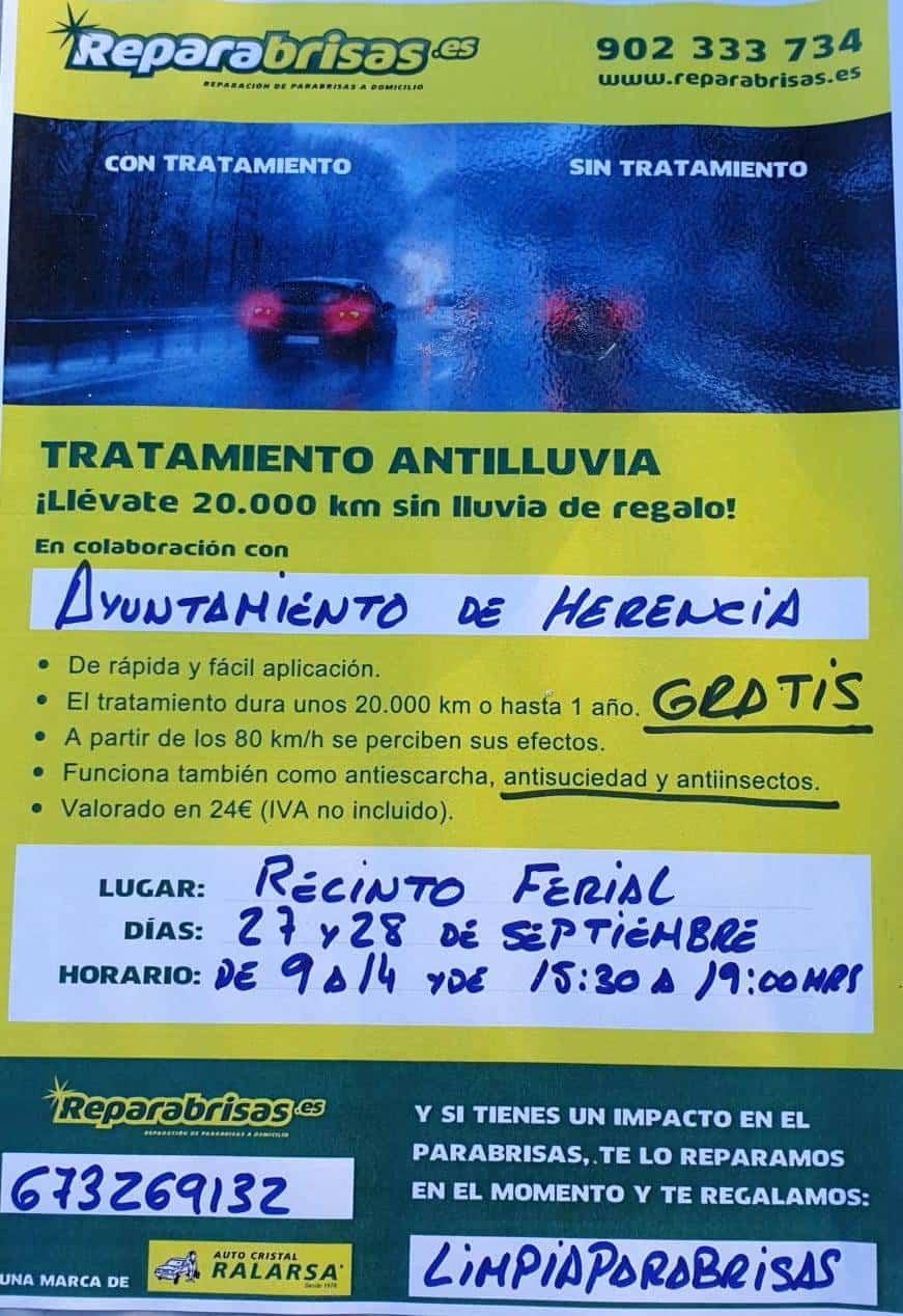 limpiaparabrisas - Campaña de tratamiento antilluvia para parabrisas