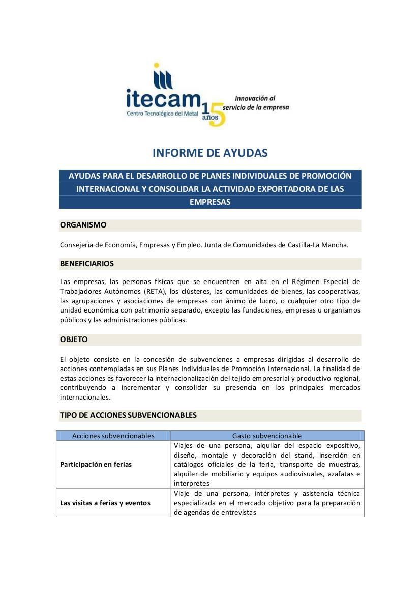 1 ayudas internacionalizacion empresas - Información sobre las ayudas para la internacionalización de empresas