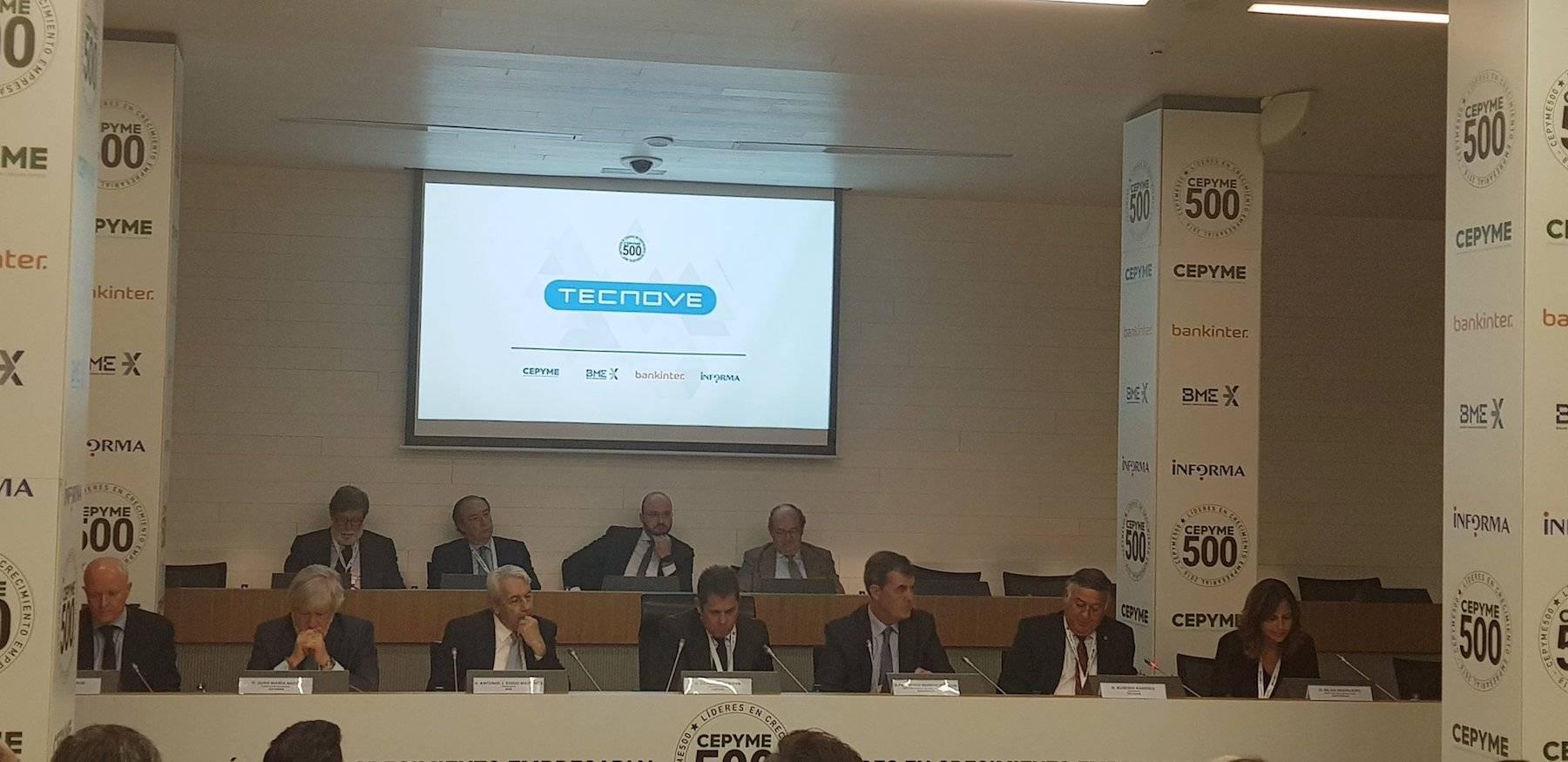 CEPYME500 reconocimiento tecnove herencia - Tecnove elegida como una de las empresas líderes en crecimiento empresarial en 2018