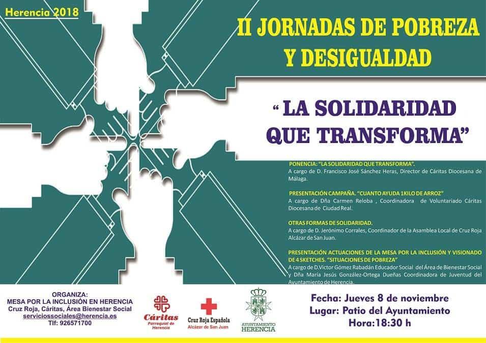 """Cartel II Jornadas Pobreza y Desigualdad - II Jornadas de Desigualdad y Pobreza """"La Solidaridad que Transforma"""""""