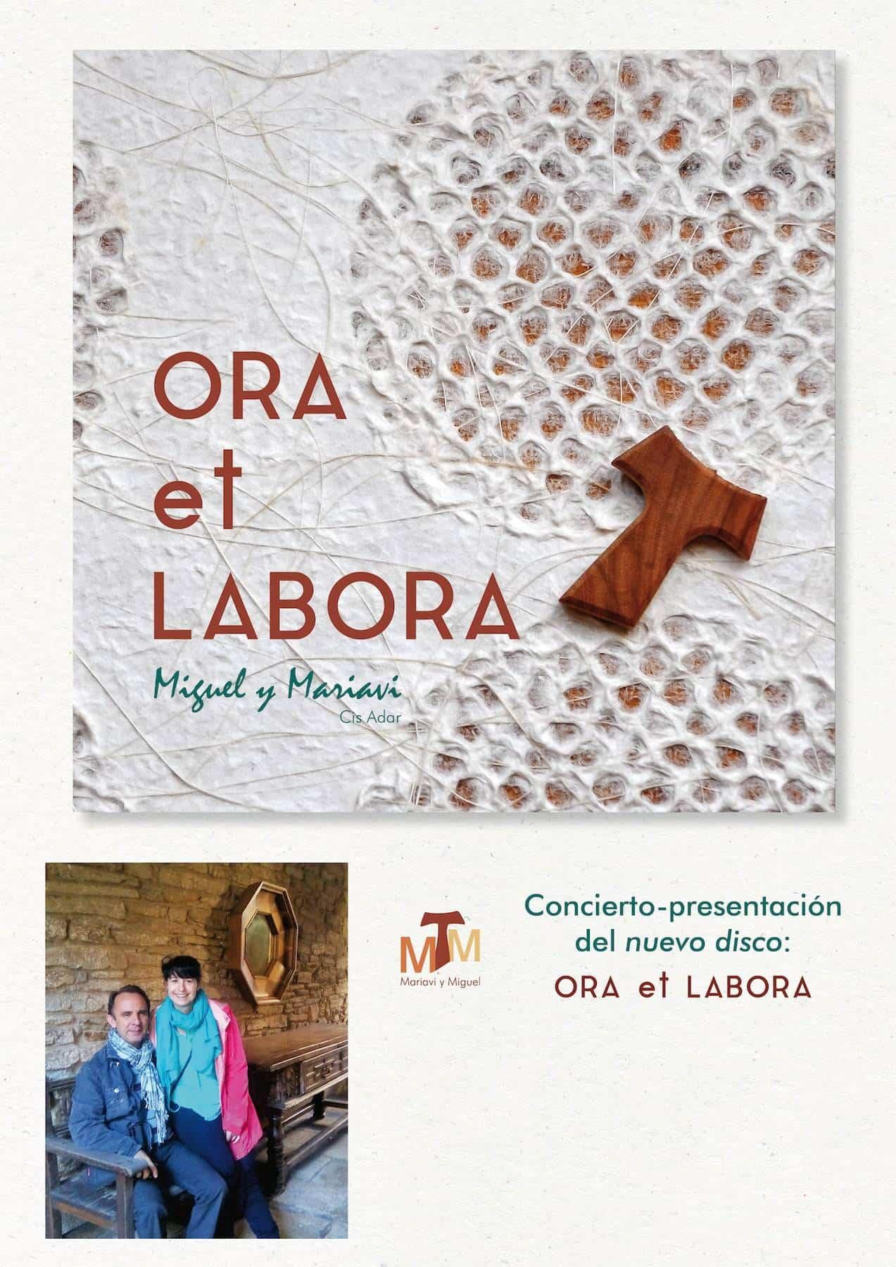 """Cartel presentacion ora et labora - Cis Adar presenta su nuevo disco """"Ora Et Labora"""""""