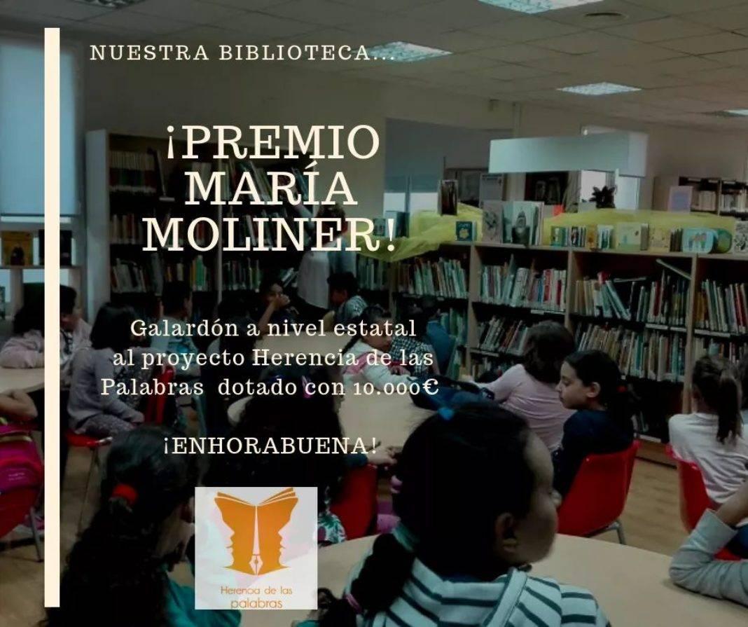 """Herencia de las palabras premio Maria Moliner 1068x895 - """"Herencia de las Palabras"""" galardonada con el Premio de animación a la lectura """"María Moliner"""""""