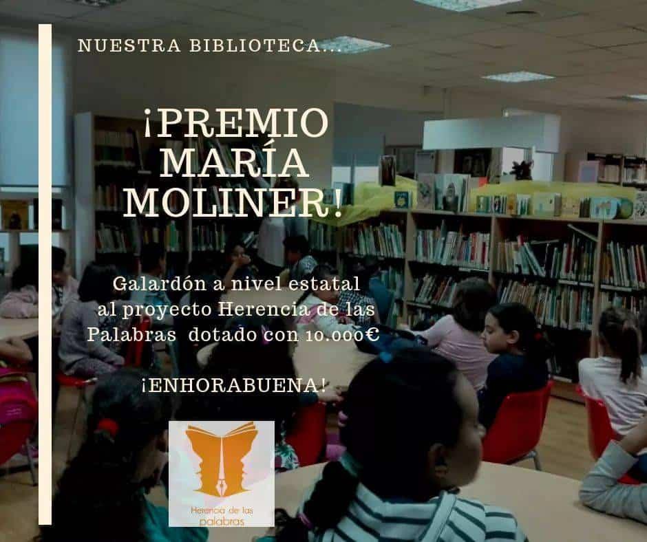 """Herencia de las palabras premio Maria Moliner - """"Herencia de las Palabras"""" galardonada con el Premio de animación a la lectura """"María Moliner"""""""