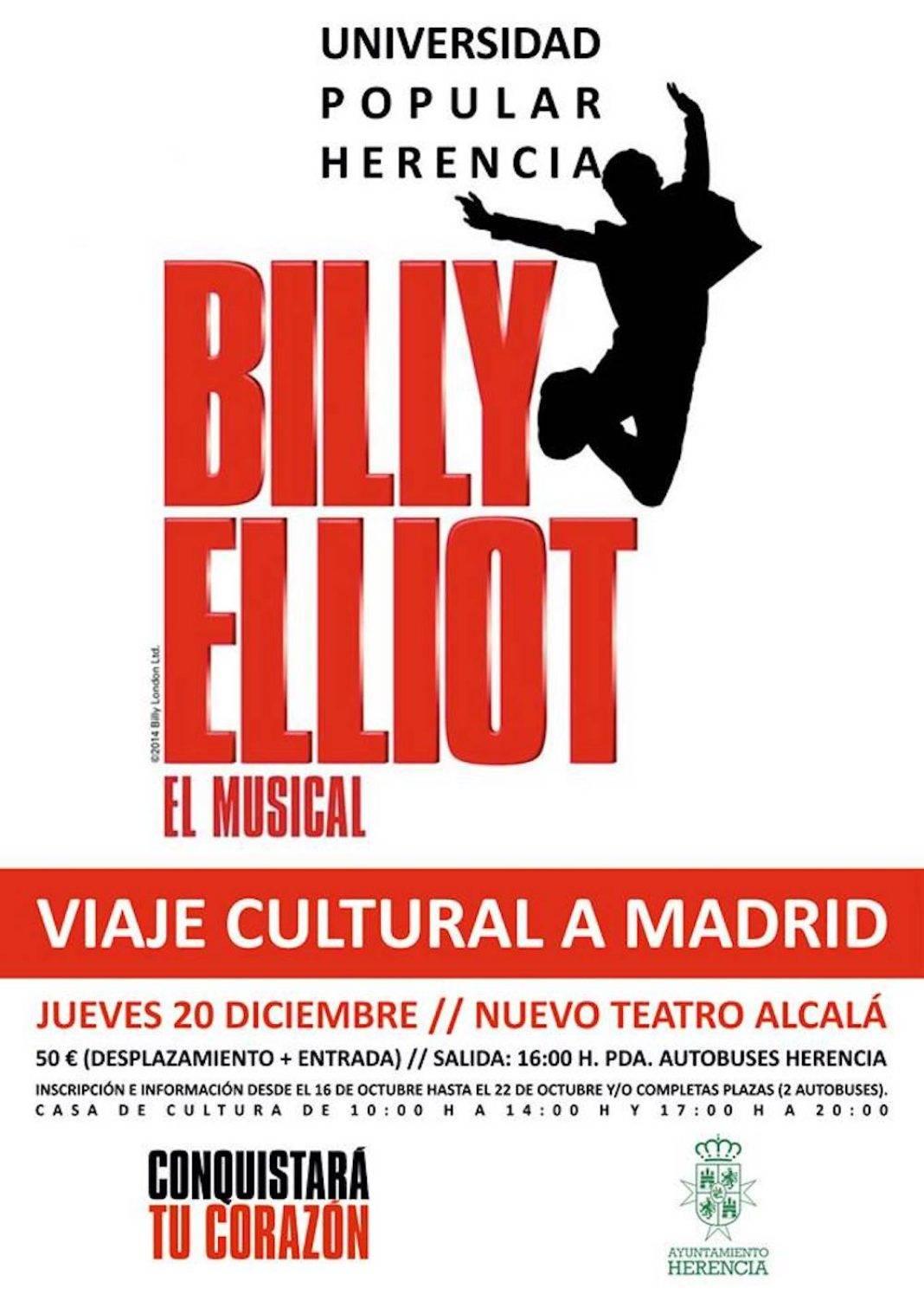 """Viaje cultural para ver """"Billy Elliot El Musical"""" desde Herencia 4"""