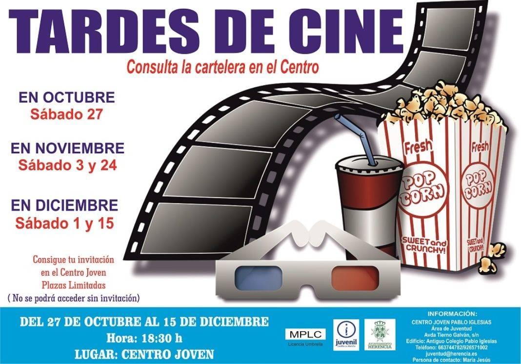 El Centro Joven de Herencia ofrecerá las tardes de cine para este otoño 4