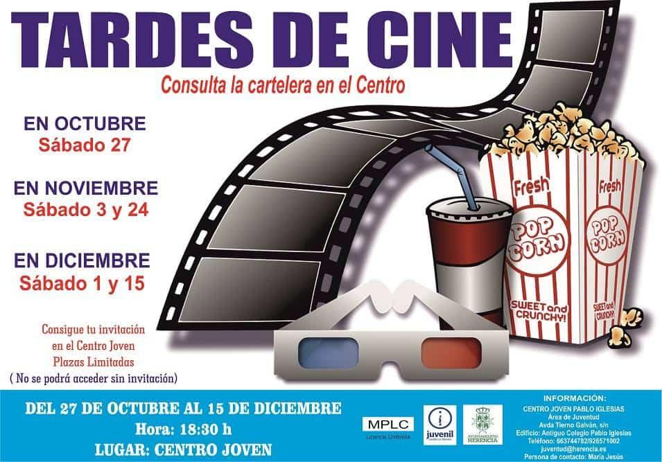 El Centro Joven de Herencia ofrecerá las tardes de cine para este otoño 3