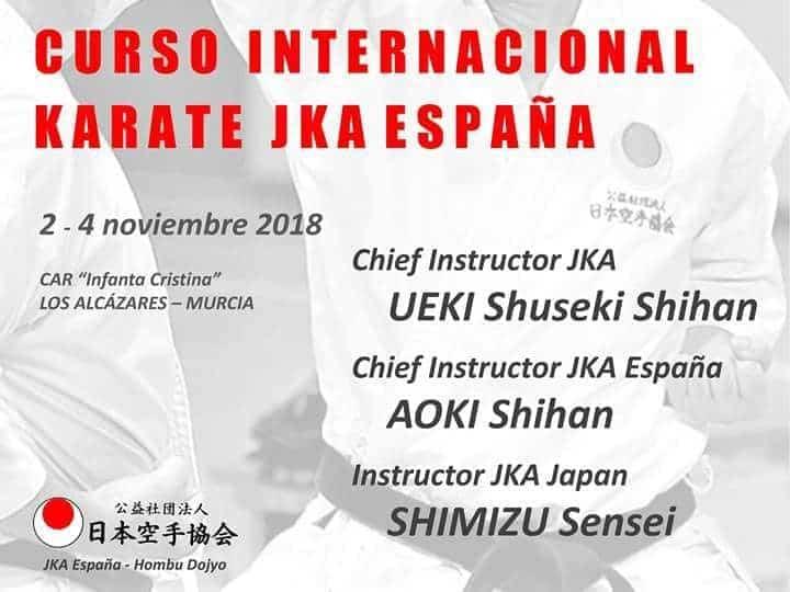 curso internacional karate jka espana - Gamito Sensei presente en las jornadas de Club Karate-Do de Herencia