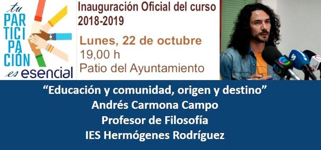 educacion comunidad origen destino andres carmona 1068x501 - Acto de inauguración oficial del Curso 2018-2019