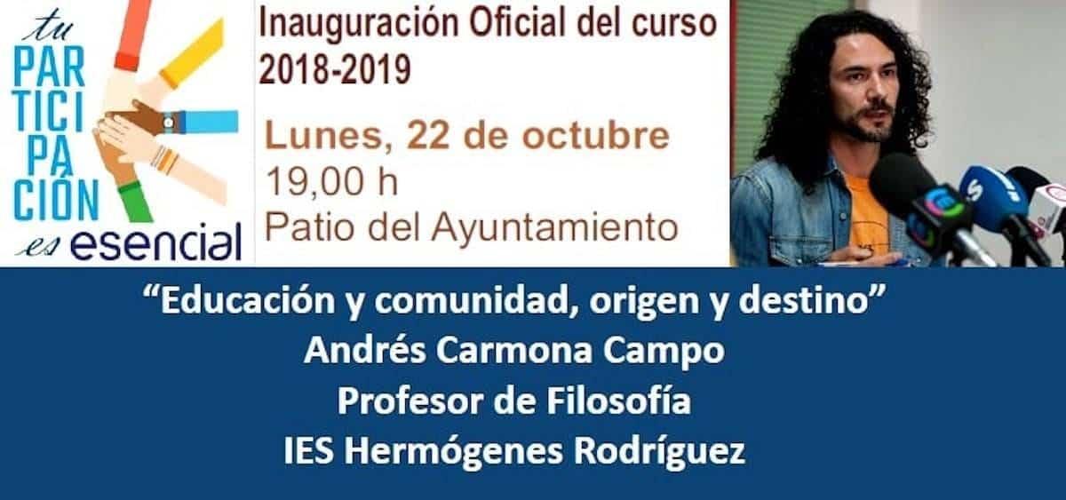 educacion comunidad origen destino andres carmona - Acto de inauguración oficial del Curso 2018-2019