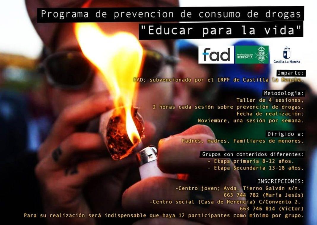 educacion drogas herencia 1068x759 - Curso de Prevención de Drogas dirigido a padres y madres