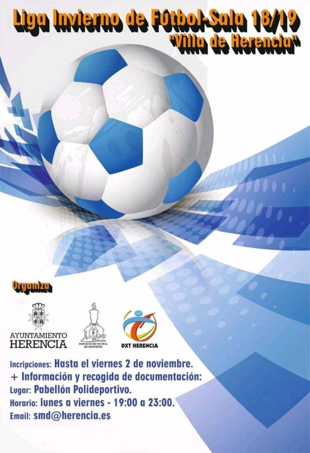 "liga invierno futbol sala herencia 2018 1068x1562 - Vuelve la Liga de Invierno de Fútbol Sala 2018-2019 ""Villa de Herencia"""