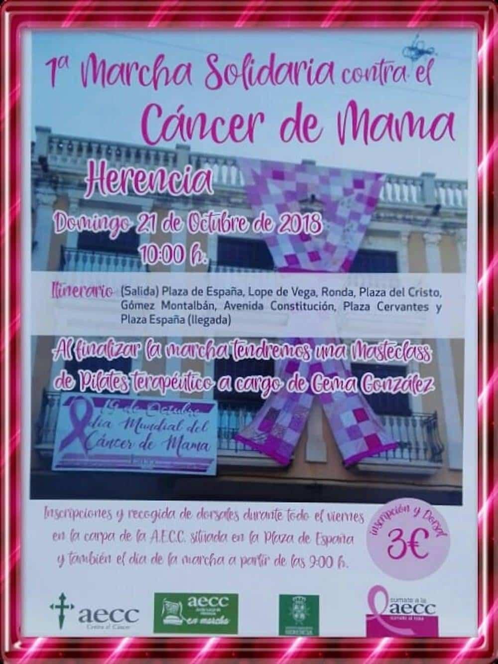 marcha contra el cancer mama - Primera Marcha Solidaria contra el Cáncer de mama en Herencia