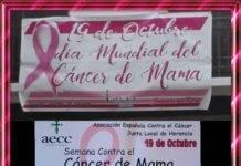 Mesa informativa del Día Mundial Contra el Cáncer de mama en Herencia