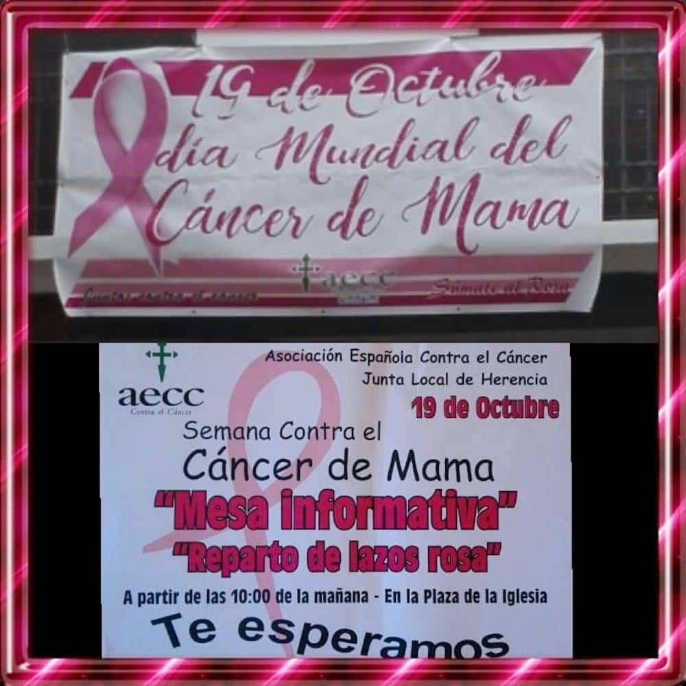 Mesa informativa del Día Mundial Contra el Cáncer de mama en Herencia 3