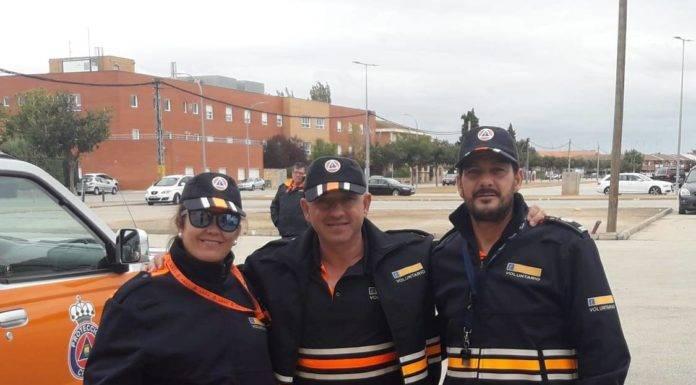 Protección Civil de Herencia colabora en los preventivos del pasado puente