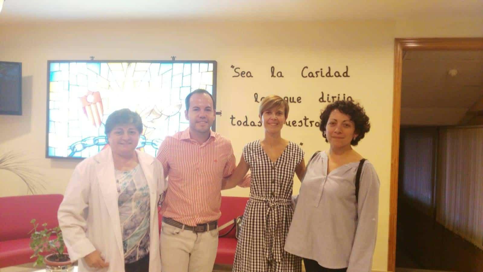 visita colegio mercedarias alcalde herencia 1 - Colegio Nuestra Señora de las Mercedes recibió la visita del Alcalde