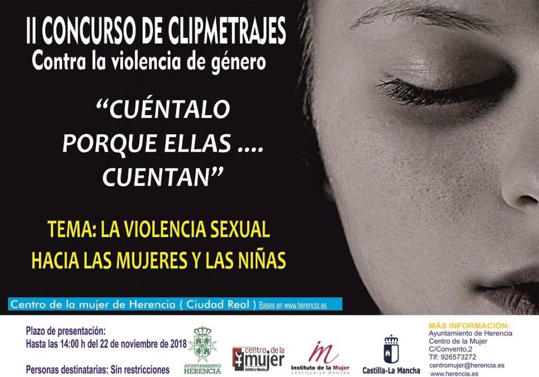 Cartel Clipmetrajes 2018 2 1068x747 - II Concurso de Cliptmetrajes Contra la Violencia de Género