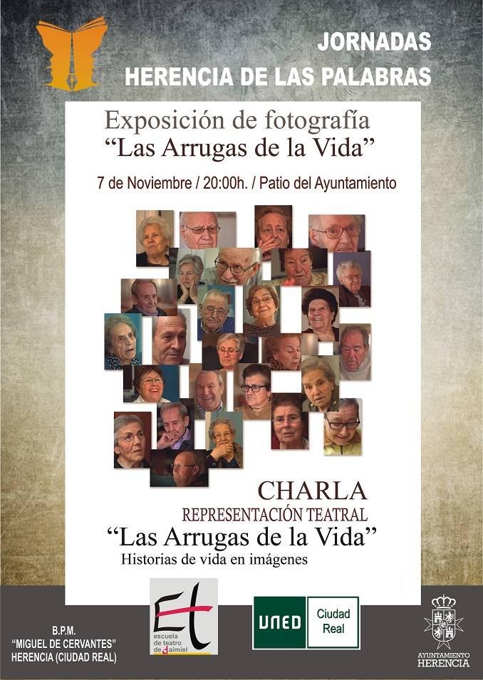 """Cartel Exposicion fotografía - Exposición """"Las arrugas de la Vida: Historias de vida en imágenes"""""""