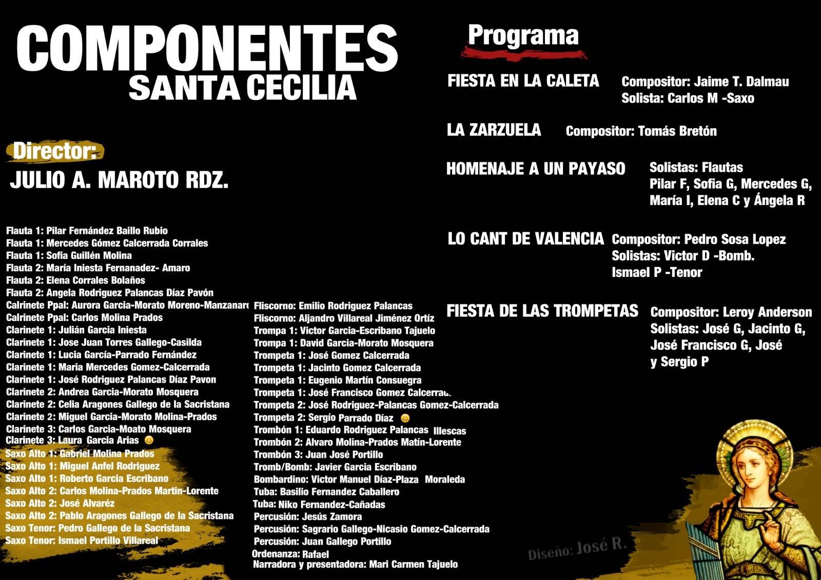 Componentes de la agrupación musical santa cecilia de Herencia - Concierto y actos en honor a Santa Cecilia
