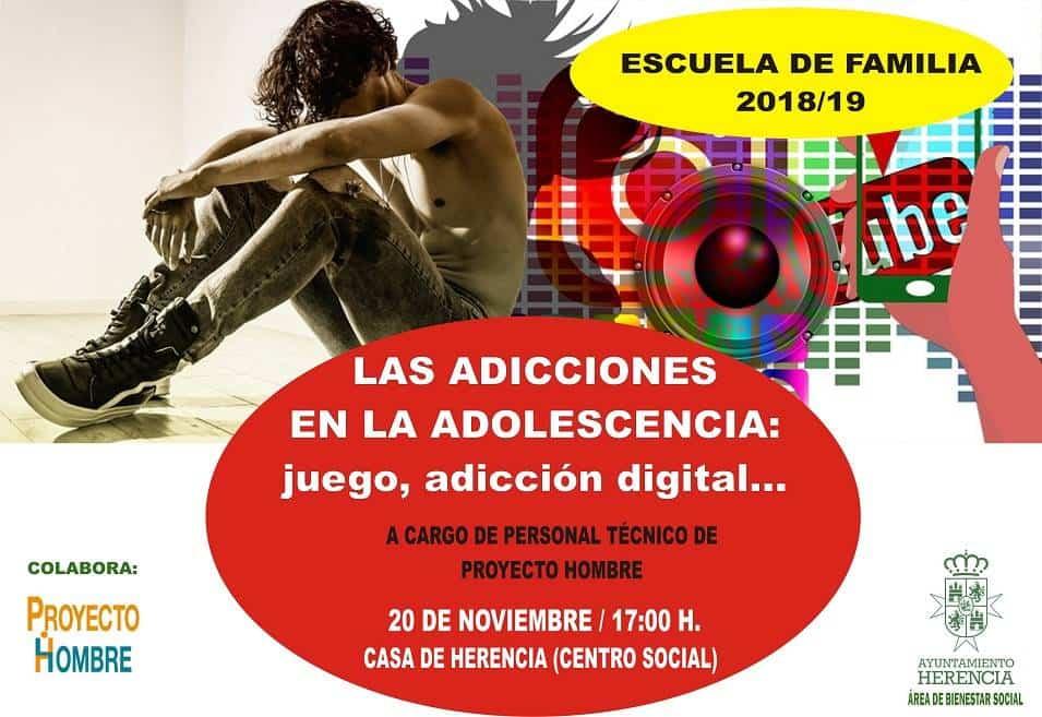 """Charla sobre las adicciones en la adolescencia dentro del programa """"Escuela de Familia"""" 3"""