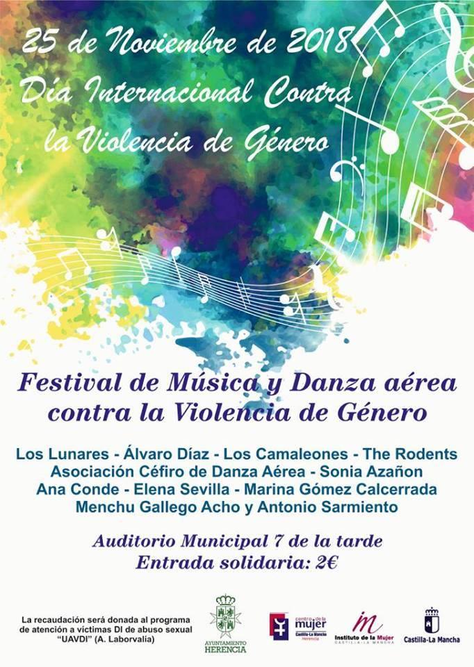 Festival de m%C3%BAsica y danza contra la violencia de g%C3%A9nero en Herencia - Festival de música y danza contra la violencia de género