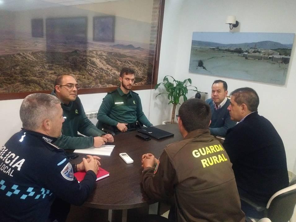 Guardia Civil Policía Local y Guardería Rural se coordinan para las labores de vigilancia en el campo - Herencia potencia la vigilancia y seguridad en el campo