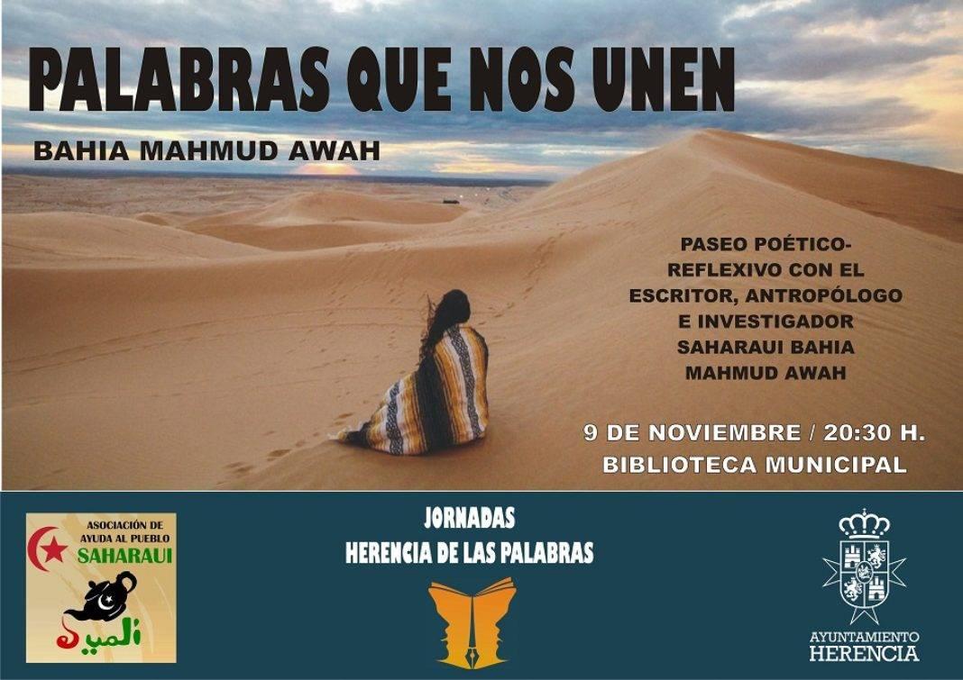 Palabras que nos unen 1068x755 - Encuentro con el escritor saharaui Bahia Mahmud Awah