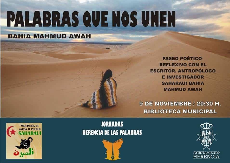 Palabras que nos unen - Encuentro con el escritor saharaui Bahia Mahmud Awah