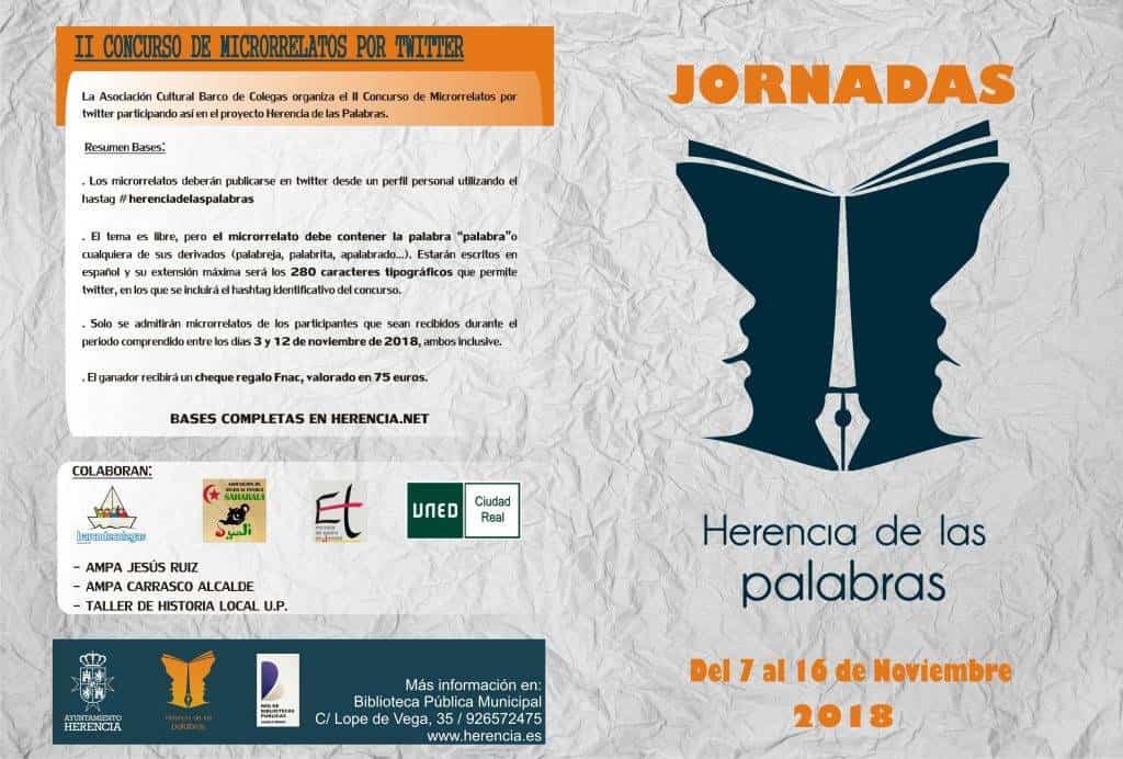 """Programa herencia de las palabras biblioteca 1 - La biblioteca organiza sus primeras Jornadas """"Herencia de las Palabras"""""""