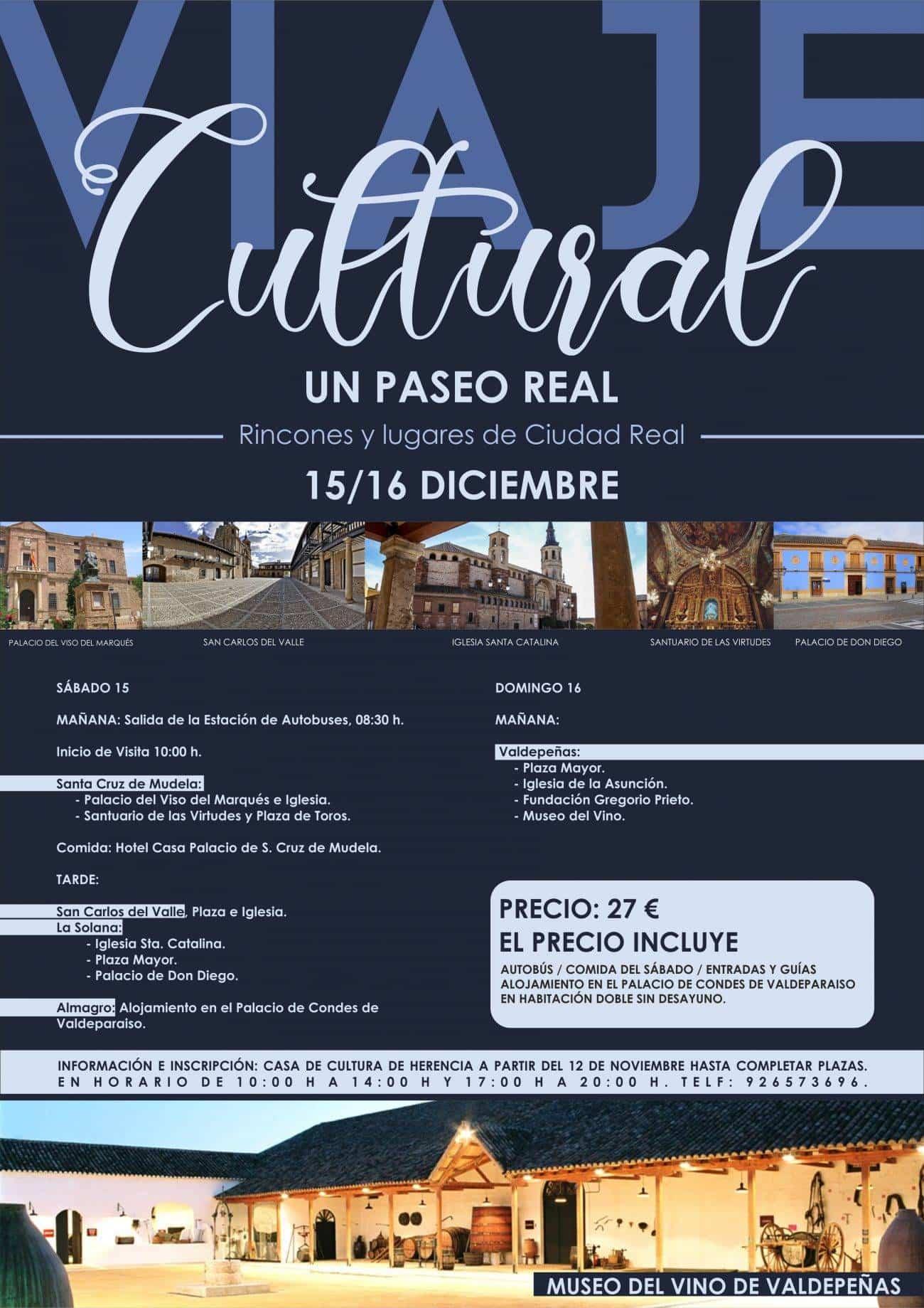 VIAJE CULTURAL 15 Y 16 DICIEMBRE 1300x1839 - Viaje cultural por rincones y lugares de la provincia de Ciudad Real