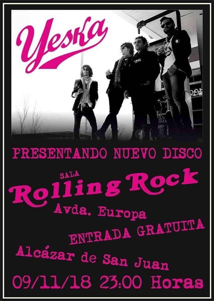 """concierto Yeska en la sala Rolling Rock - Yeska presenta su disco """"Incendio"""" en la sala Rolling Rock de Alcázar"""