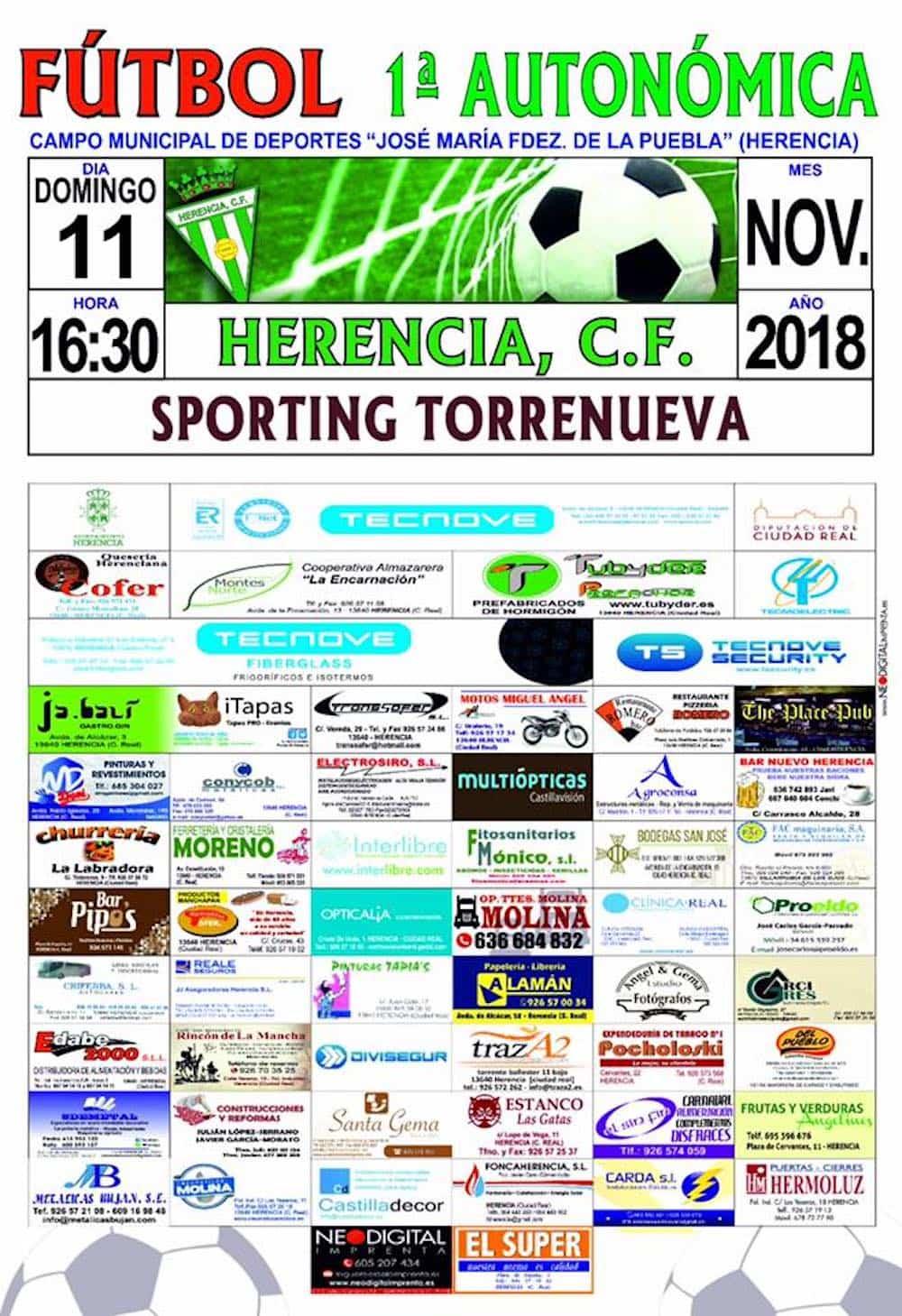 futbol primera autonomica herencia sporting torrenueva cartel completo - Herencia C.F se enfrentará en casa al Sporting Torrenueva