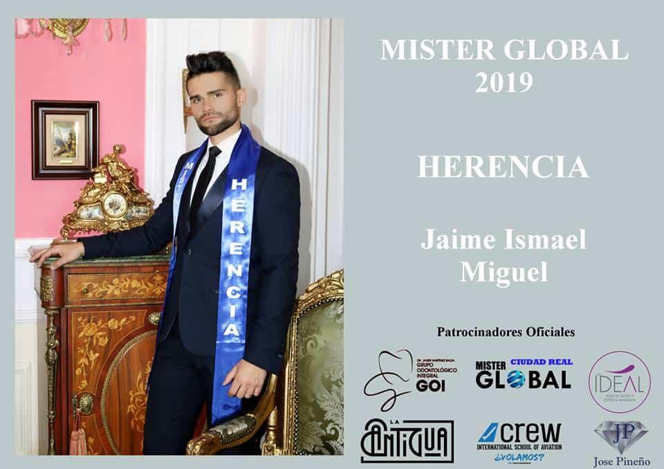 Jaime Ismael Miguel, la imagen de Herencia en Mister Global Ciudad Real 3