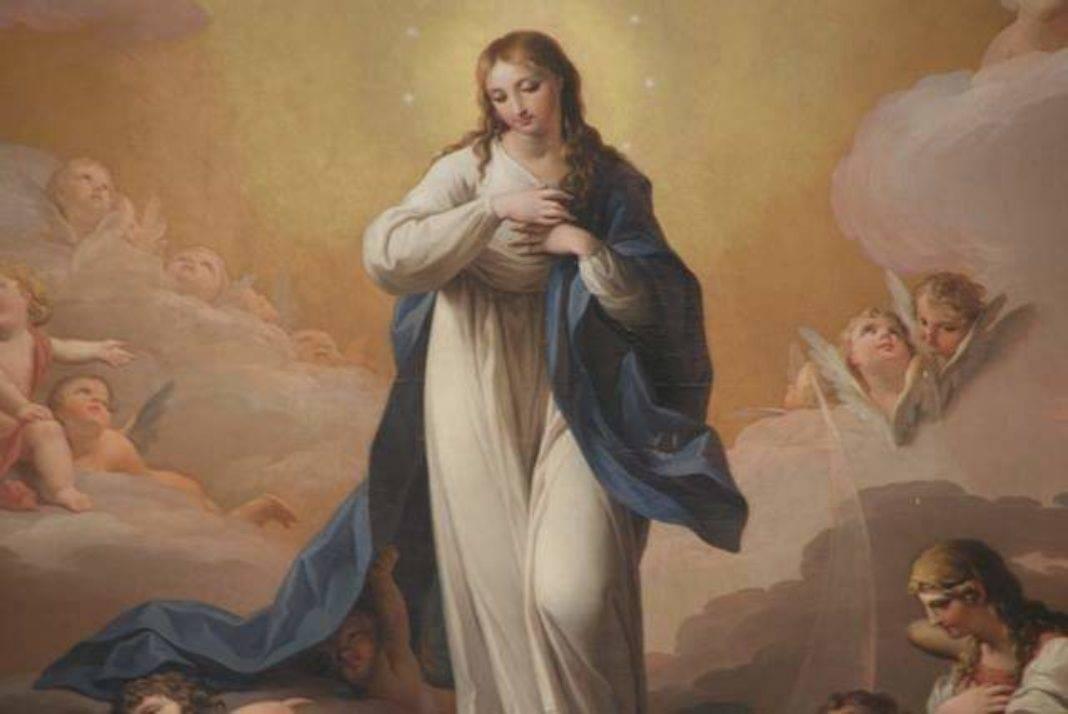 inmaculada Concepción de Zacarias Gonzalez Velazquez en Herencia 1068x714 - Presentación oficial de las fiestas patronales en honor a la Inmaculada y de los actos conmemorativos del cuadro del altar mayor parroquial