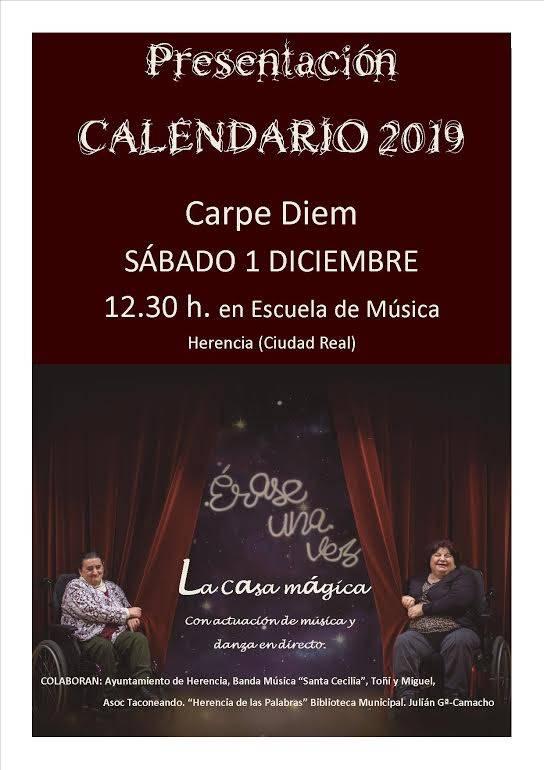 presentación del calendario Carpe Diem 2019 - Carpe Diem presenta su calendario 2019 el sábado 1 de diciembre