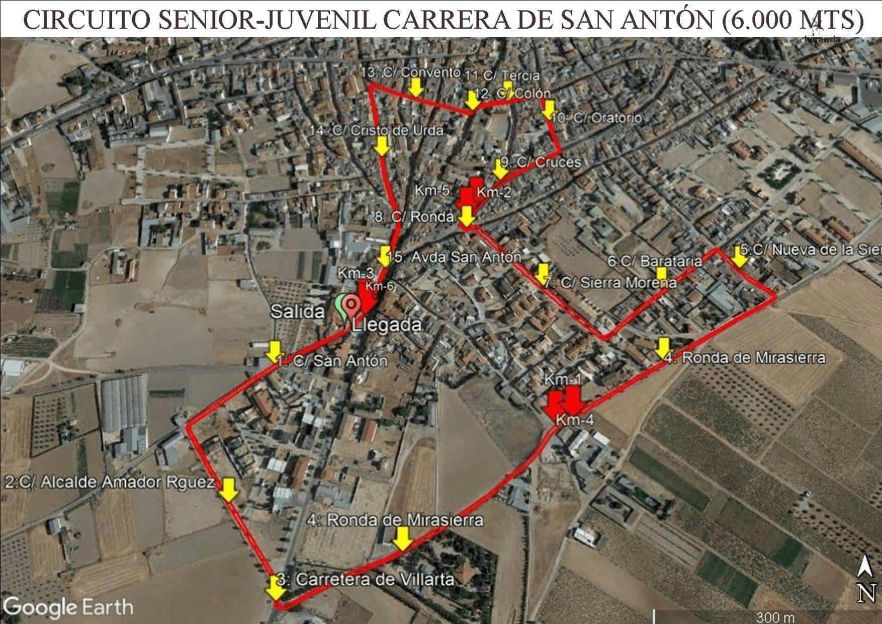 Circuito Senior Juvenil CPSA - XVIII Carrera popular de San Antón contra el cáncer